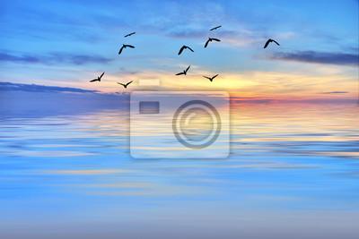 Obraz La hora azul en el mar