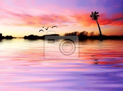 Obraz La Palmera en el lago
