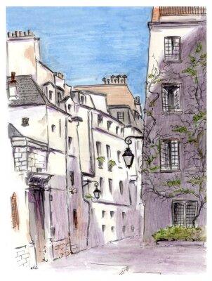 Obraz Lakování ulice evropského města Paříže