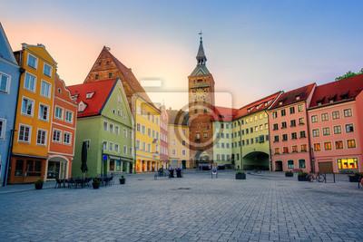 Landsberg am Lech historické Staré Město, Bavorsko, Německo
