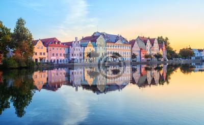 Landshut Staré Město, Bavorsko, Německo