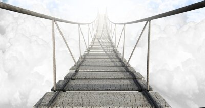 Obraz Lanový most nad mraky