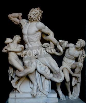 Obraz Laocoon a jeho synové, slavný klasický řecký socha