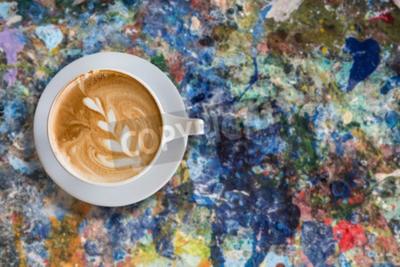 Obraz latte art grunge laku plakát barvě pozadí
