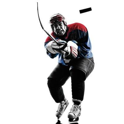 Obraz Lední hokej muž hráč silueta