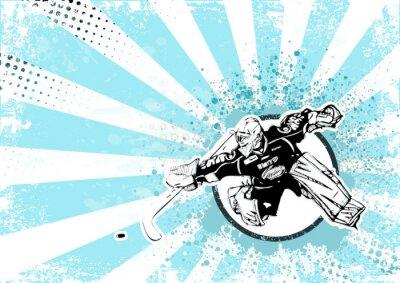 Obraz lední hokej retro plakát pozadí