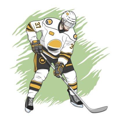 Obraz Lední hokejista bílá