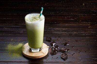 Obraz ledový zelený čaj latte.
