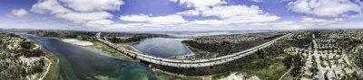 Obraz Letecký Panoramatický Batisquitos Lagoon v Karlových Varech, Kalifornie, USA.