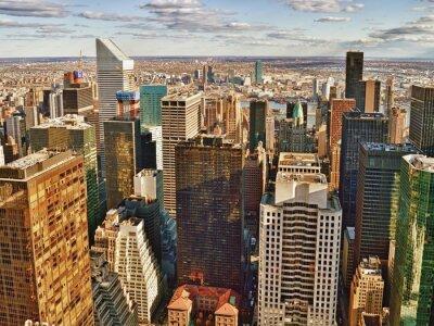 Obraz Letecký pohled na New York City.