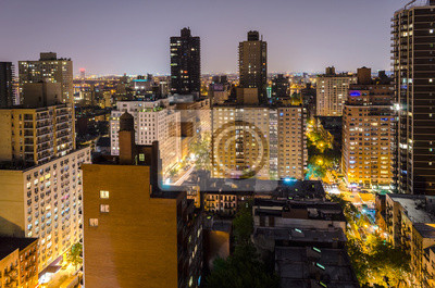 Letecký pohled v noci, New York City