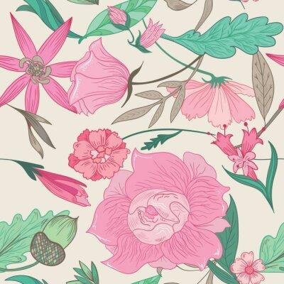 Obraz Léto Pattern v Pale Barvy