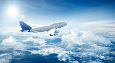 Obraz Letounu letícího nad mraky