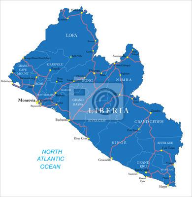 Libérie mapa