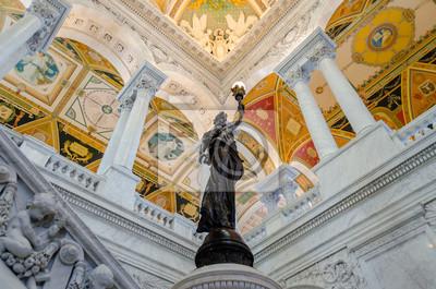Library of Congress Hlavní sál Washingtonu DC