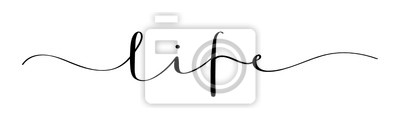 Obraz LIFE vector brush calligraphy banner