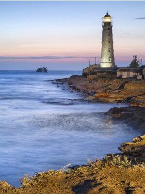 Obraz Lighthouse za soumraku