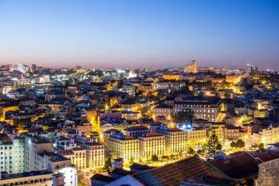 Obraz Lisabon in der Dämmerung