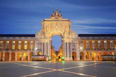 Obraz Lisabon. Obrázek Vítězný oblouk v portugalském Lisabonu.