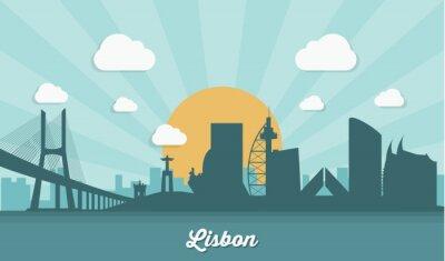 Obraz Lisabon obzor - plochý design