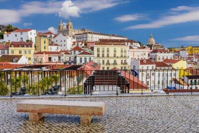 Obraz Lisabon panoráma města - tradiční architektura, okres Alfama, Lisabon, Portugalsko.