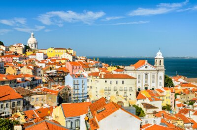Obraz Lisabon v centru města, Portugalsko