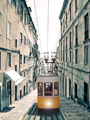Obraz Lisboa - Velho Elevador Amarelo