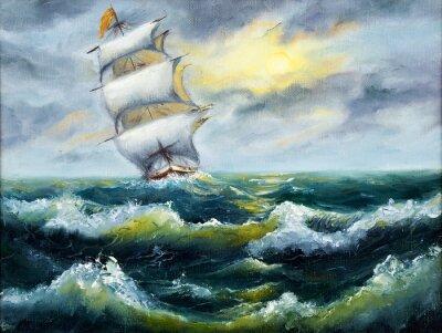 Obraz Loď v oceánu