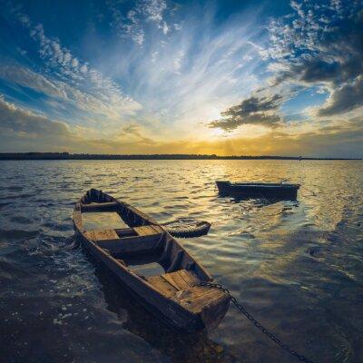 Obraz Lodě na řece Volze