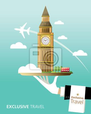 Obraz Londýn, Big Ben, Anglie, Exclusi jsem, Travel, London Bus