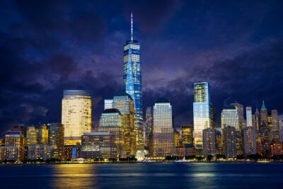 Obraz Lower Manhattan skyline při západu slunce, New York