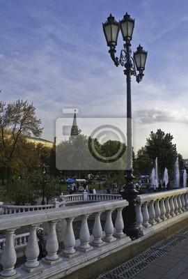 Lucerna v blízkosti Rudého náměstí.