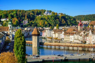 Lucerne city historical Old town, Switzerland,