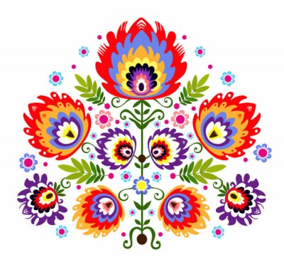 Obraz Ludowy Wzór - kwiaty