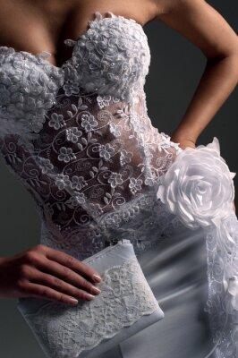 Obraz luxe nevěsta ve tvaru padnoucí šaty, katalog fotografii