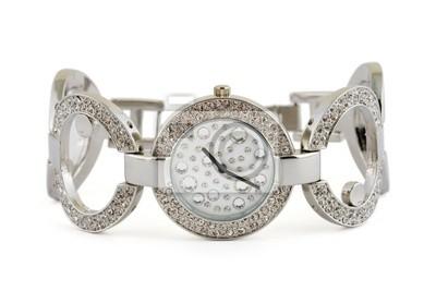 Luxusní žena hodinky izolovaných na bílém pozadí