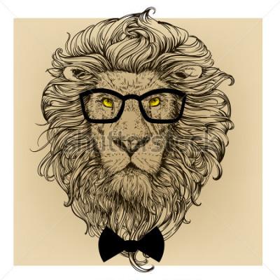 Obraz lva charakter portrét
