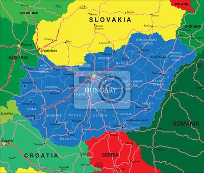 Maďarsko mapa