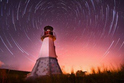 Obraz maják s noční oblohou na pozadí hvězd tras