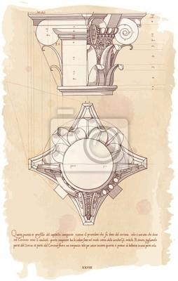 Makovice - ručně nakreslit náčrtek kompozitní architektonické objednávka