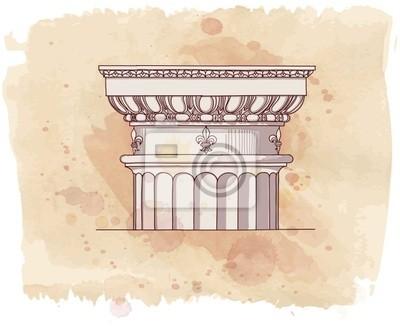Makovice ruky nakreslit náčrtek dórský architektonické pořadí