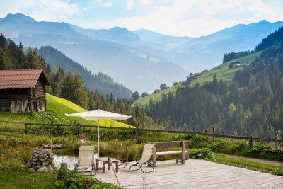 Obraz Malebné Relaxační Point k relaxaci v Alpách