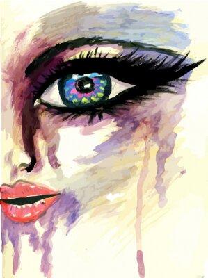 Obraz Malované Stylizované Face