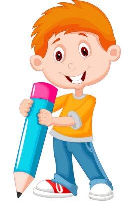 Obraz Malý chlapec s tužkou