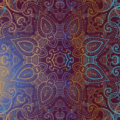 Obraz Mandala. Indická dekorativní vzor.