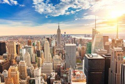 Obraz Manhattan letecký pohled