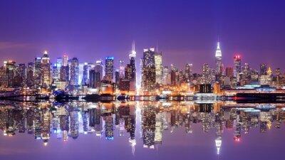 Obraz Manhattan Skyline s odrazy