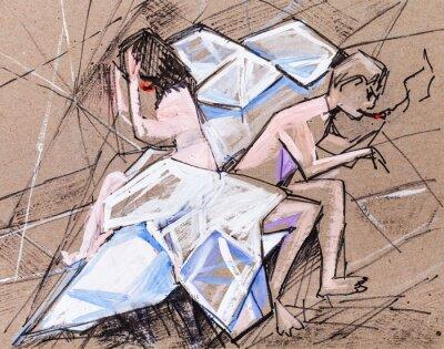 Obraz Manželé v hádce