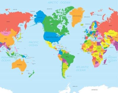 Obraz Mapa americký svět