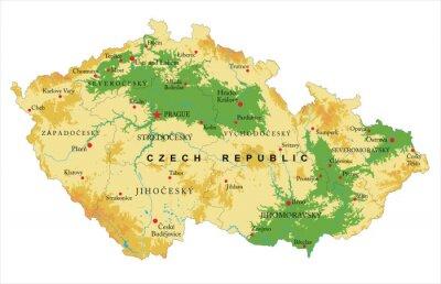 Mapa reliéfu České republiky